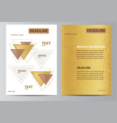 yellow brochure template vector image