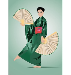 Young japanese woman vector image