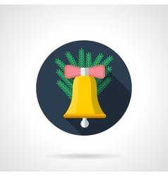 Christmas decor flat color icon vector image