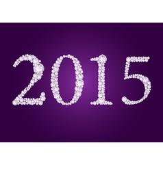 diamond 2015 purple vector image