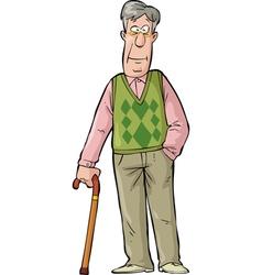 Elderly man vector image