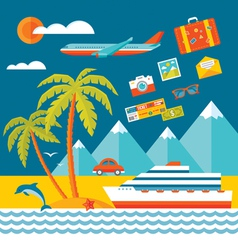 Travel - flat style vector image vector image