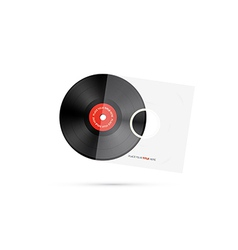 Vinyl Record Disc vector image
