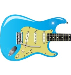 50s Electric Guitar vector image