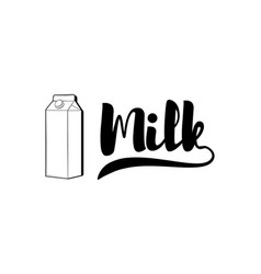 fresh milk packaging container badge or label vector image