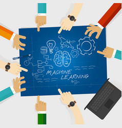 Machine learning computer science education study vector