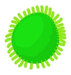 Round bacteria icon cartoon style vector image vector image