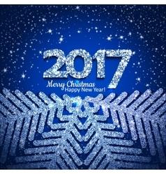 abstract Christmas snowflake vector image vector image