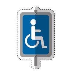 disable person in wheelchair silhouette vector image