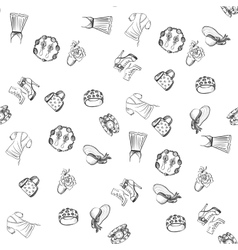 Hand drawn Fashion pattern vector image