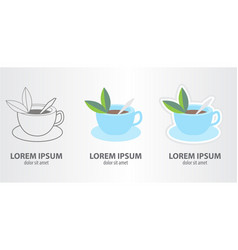 icon of the tea vector image