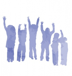 kids made from clouds vector image vector image