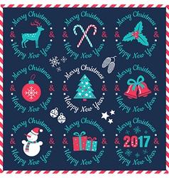 set christmas banners dark 2017 vector image vector image
