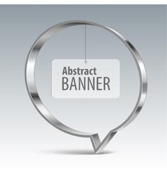 Shiny metal banner eps 10 vector image