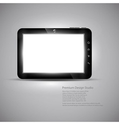 Tablet design vector image vector image