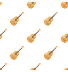 yellow guitar hippy single icon in cartoon style vector image vector image