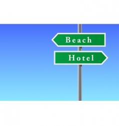 arrows sign of beach hotel vector image vector image