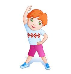 Cartoon playing boy vector image vector image