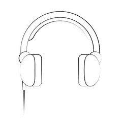 headset headphones microphone icon image vector image vector image