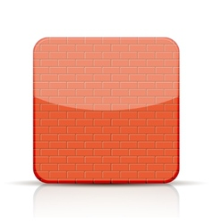 red brick app icon on white background vector image vector image
