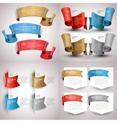 ribbons set Design infographic template vector image