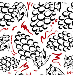 seamless pattern with grapes vector image vector image