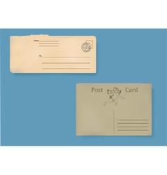 Set of old envelopes vector image