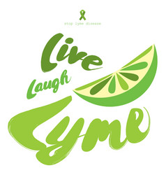 stop lyme disease flat poster design with green vector image vector image