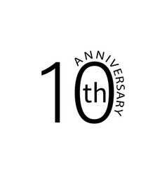 10 anniversary sign element of anniversary sign vector image