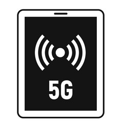 5g tablet icon simple style vector