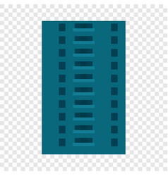 abandoned city building icon flat style vector image