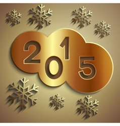 abstract circles for new year 2015 vector image