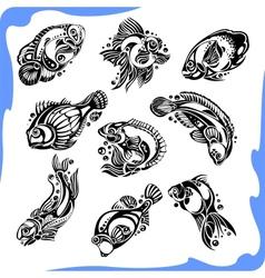 Abstract Fish - set vector
