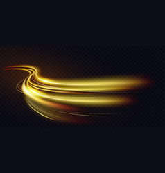 Abstract shiny color gold wave light effect magic vector