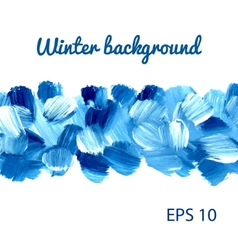 Acrylic Winter background vector