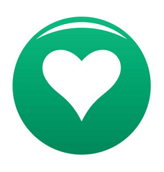 Affectionate heart icon green vector