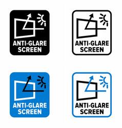 Anti-glare screen filter panel or film vector