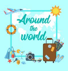 Around world poster vector