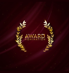 award nomination design background golden winner vector image