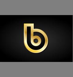 B gold golden letter logo icon design vector