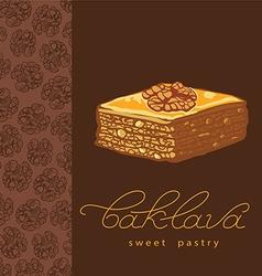 Baklava sweet pastry 3 vector