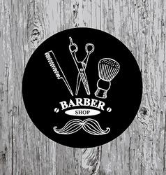 Barber shop label icon vector