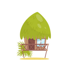 beach bungalow tropical house vector image