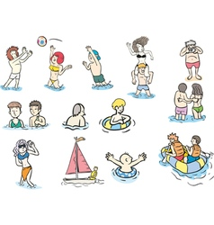 beach people2 vector image