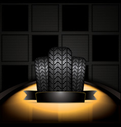black rubber tire vector image