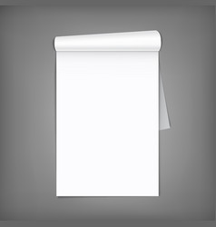 blank magazine with rolled pages a4 vector image