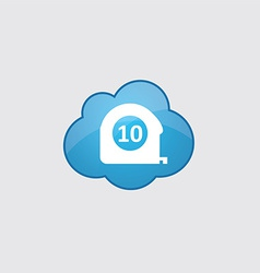 Blue cloud measurement icon vector