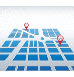 Blue map vector image