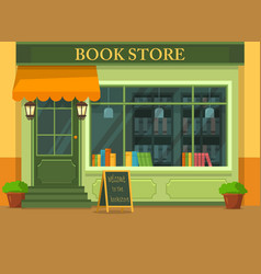 Bookstore or shop with books vector