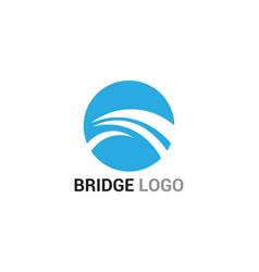 bridge logo and symbol template building vector image